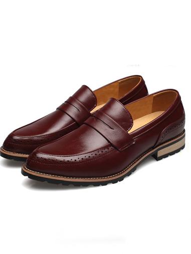 Giày tây đỏ g66 - 1