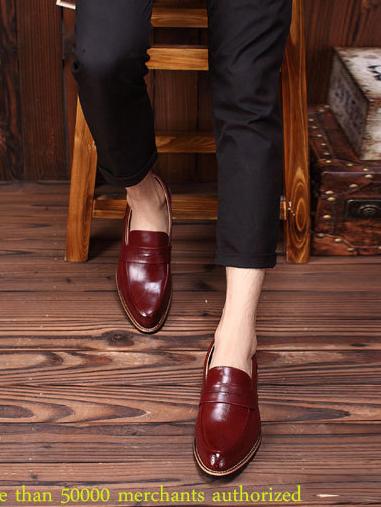 Giày tây đỏ g66 - 4
