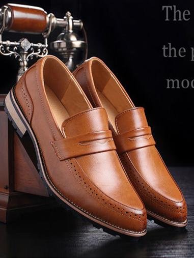 Giày mọi da màu bò g66 - 1