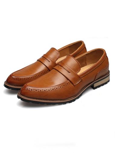 Giày mọi da màu bò g66 - 2
