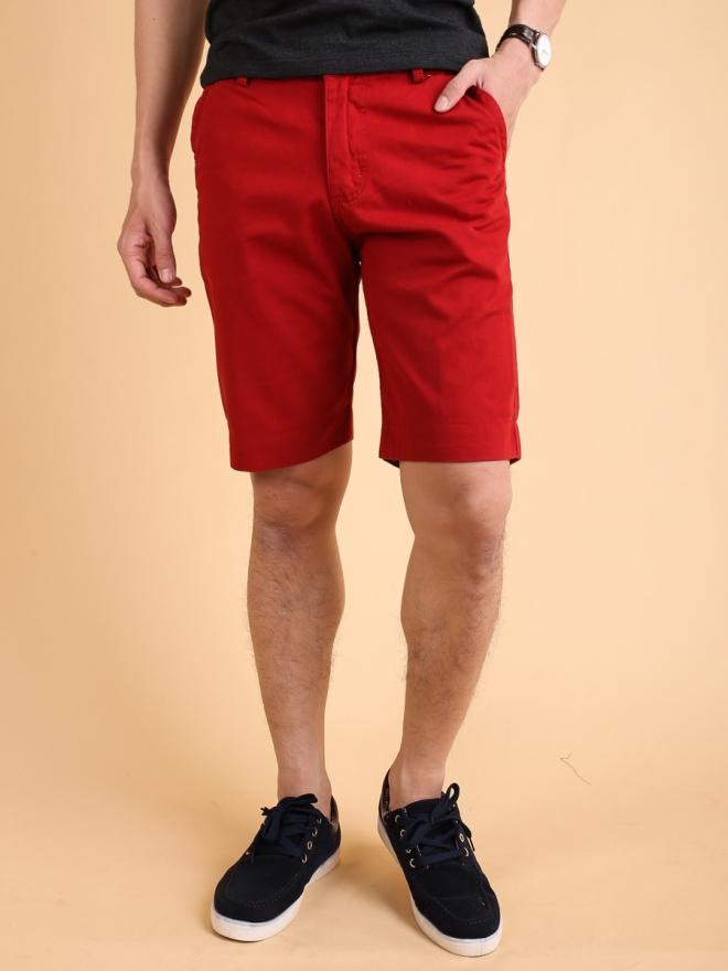Quần short kaki đỏ qs72 - 2