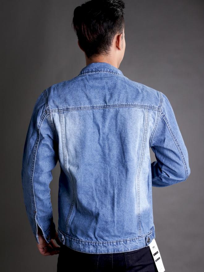 Áo khoác jean xanh ak184 - 3