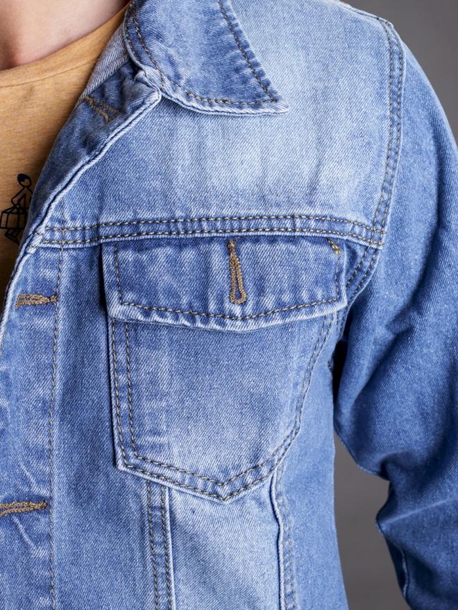 Áo khoác jean xanh ak184 - 2