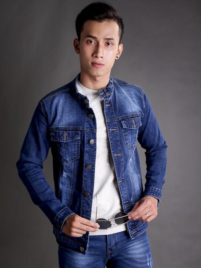 Áo khoác jean xanh ak183 - 2