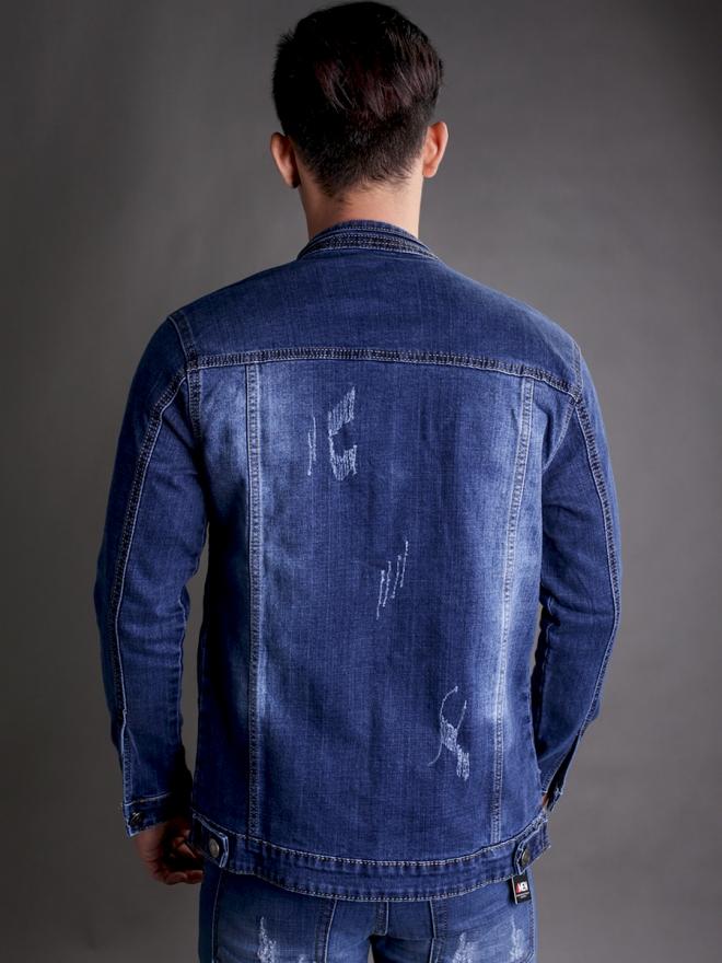 Áo khoác jean xanh ak183 - 3