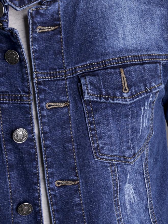 Áo khoác jean xanh ak183 - 1