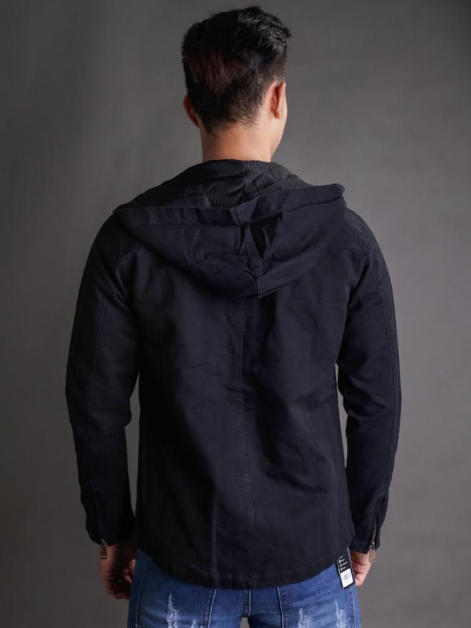 Áo khoác kaki đen ak181 - 3
