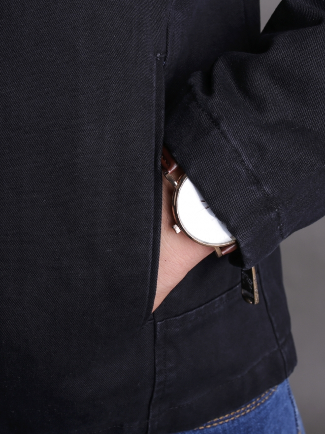 Áo khoác kaki đen ak181 - 2