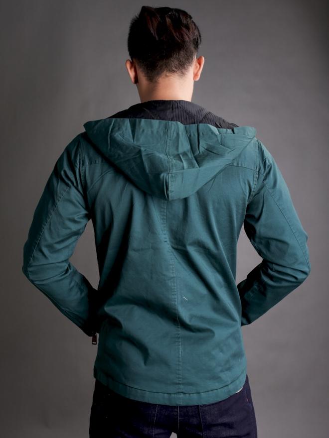 Áo khoác kaki xanh ak181 - 2