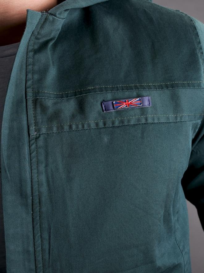 Áo khoác kaki xanh ak181 - 1