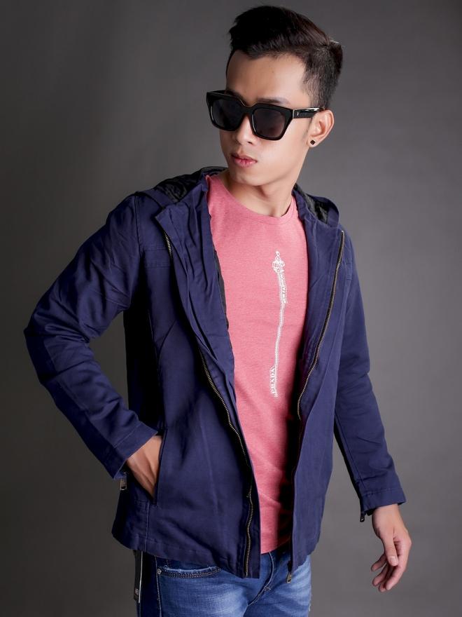 Áo khoác kaki xanh đen ak181 - 2