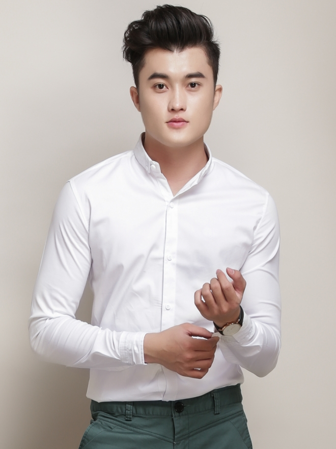 Ao So Mi Han Quoc Trang Tron ASM788