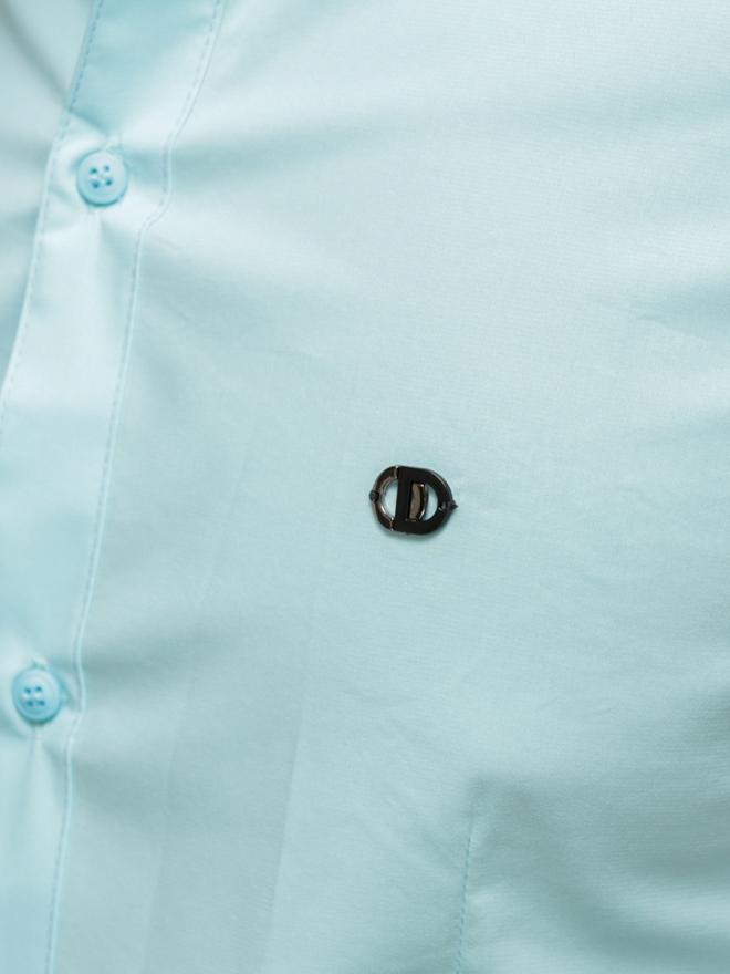 Áo sơ mi ngắn tay xanh ngọc asm776 - 1