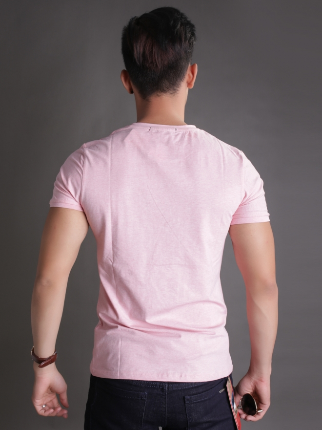 Áo thun cổ tròn hồng at596 - 2