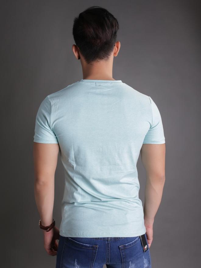 Áo thun cổ tròn xanh ngọc at596 - 2