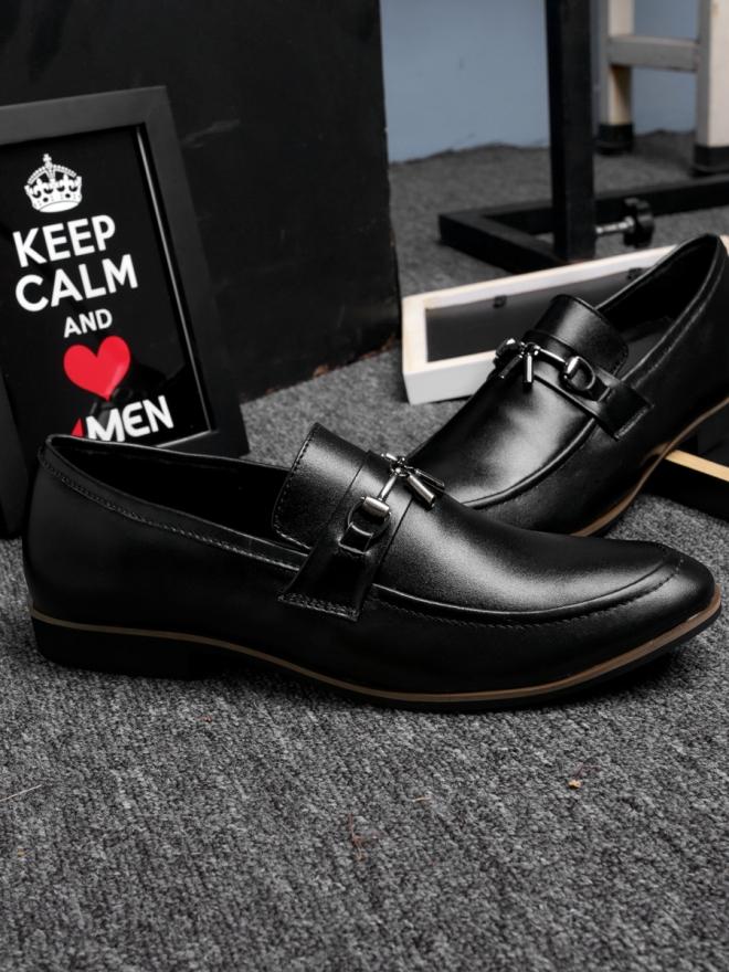 Giày mọi da đen g74 - 2