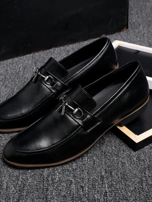 Giày Mọi Da Đen G74