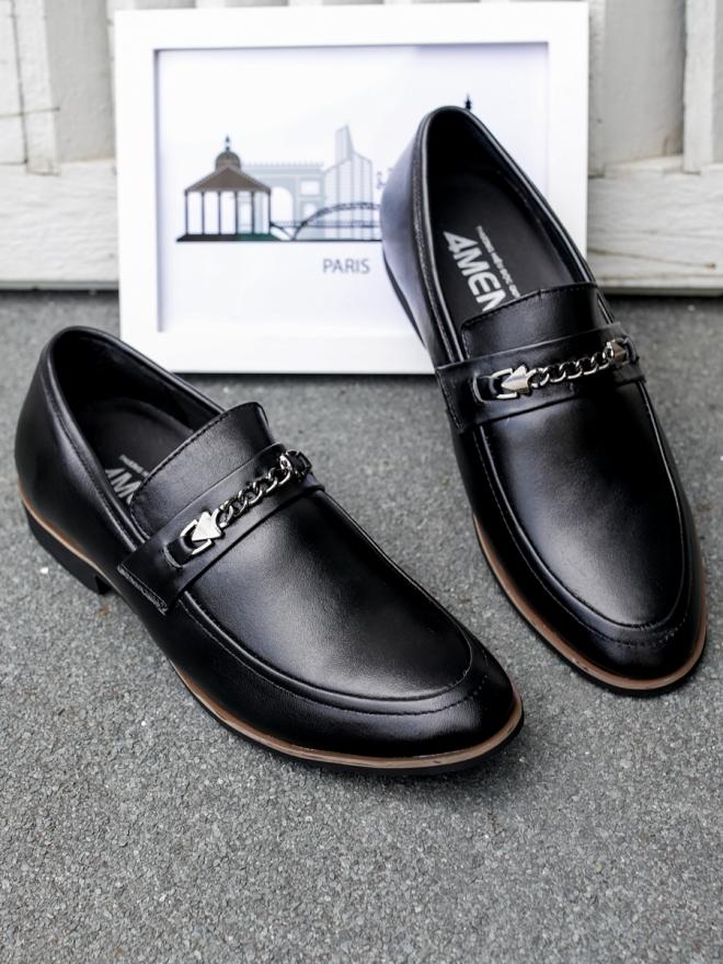 Giày mọi da đen g75 - 3