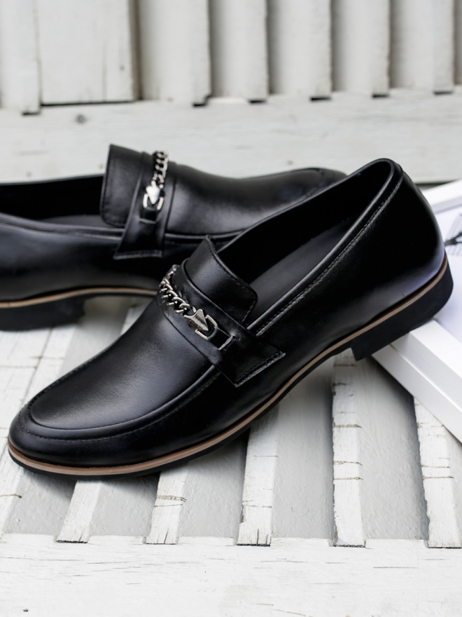 Giày mọi da đen g75 - 2