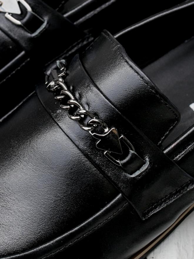 Giày mọi da đen g75 - 1
