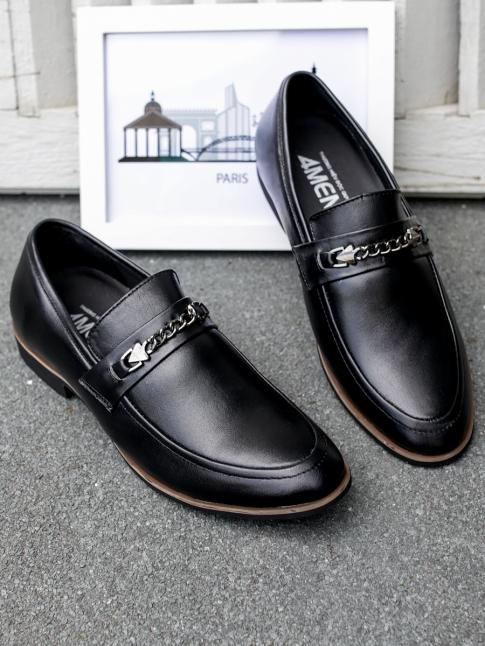 Giày Mọi Da Đen G75