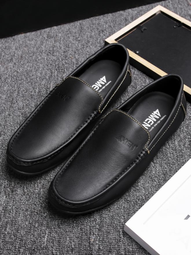 Giày mọi da đen g76 - 3