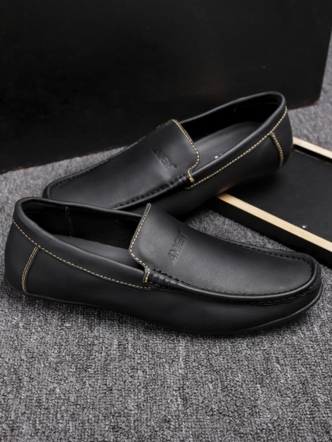 Giày mọi da đen g76 - 2