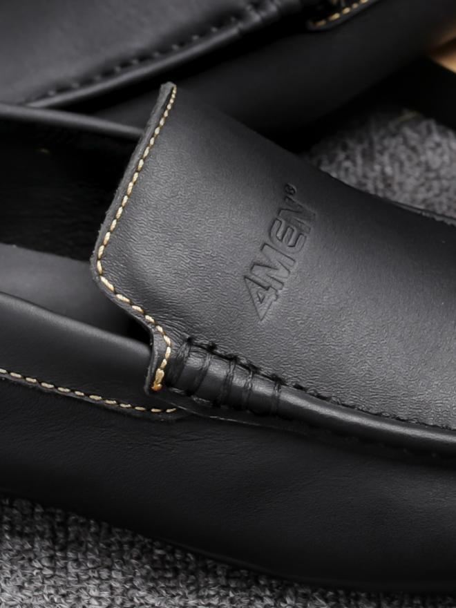 Giày mọi da đen g76 - 1