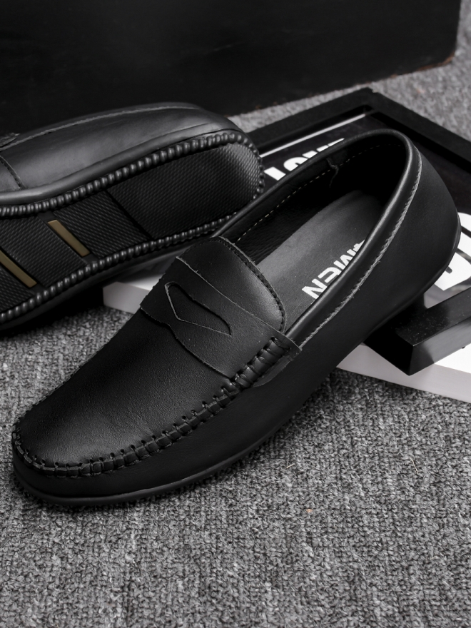 Giày mọi da đen g77 - 2
