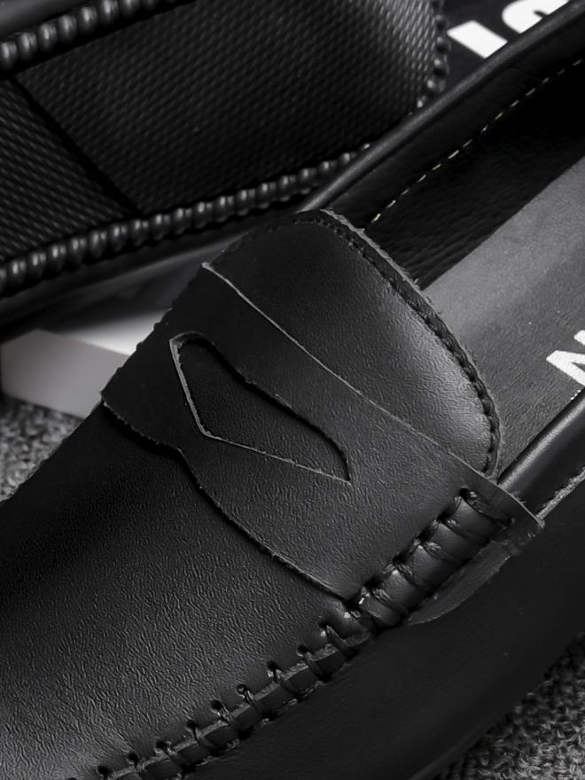Giày mọi da đen g77 - 1