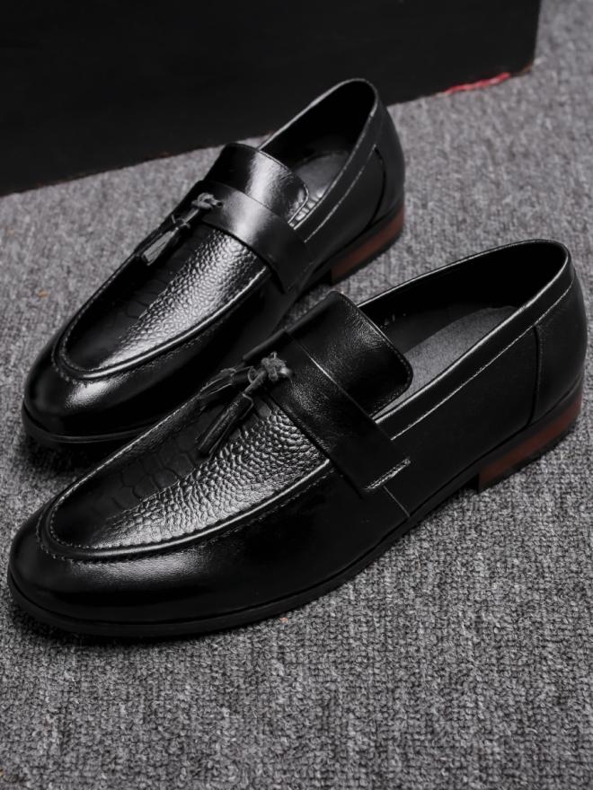 Giày mọi da đen g78 - 3