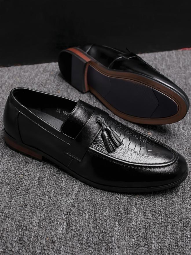 Giày mọi da đen g78 - 1