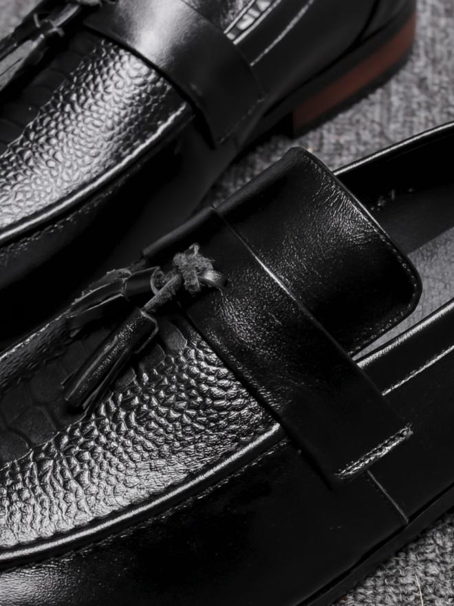 Giày mọi da đen g78 - 2