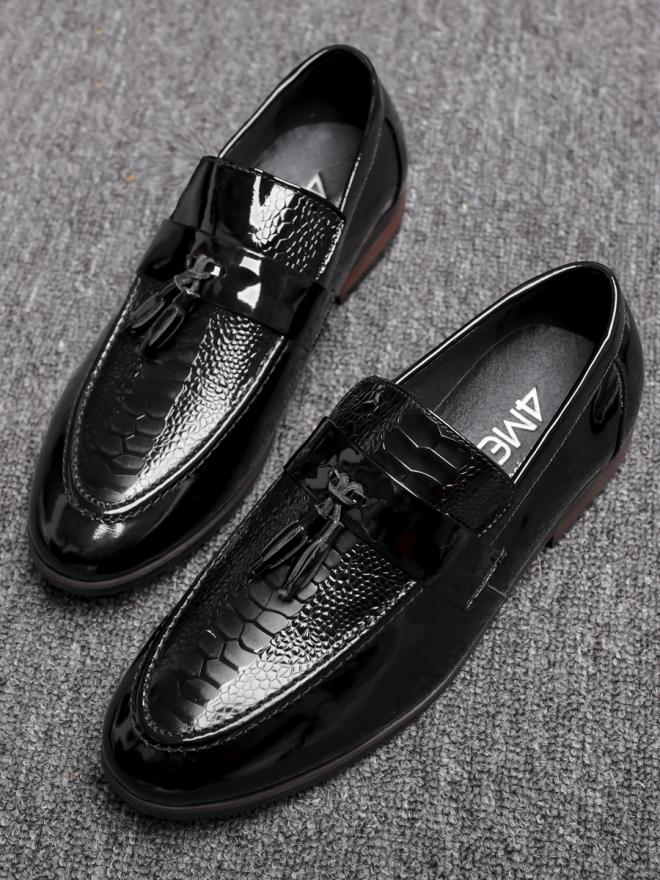 Giày mọi da đen g79 - 1