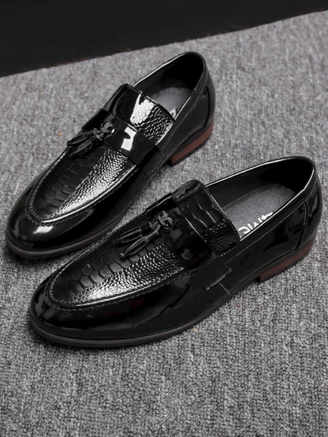Giày mọi da đen g79 - 3