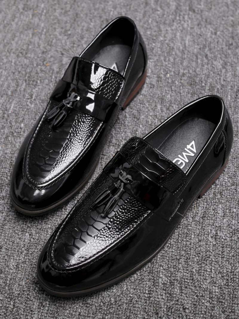 Giày Mọi Da Đen G79