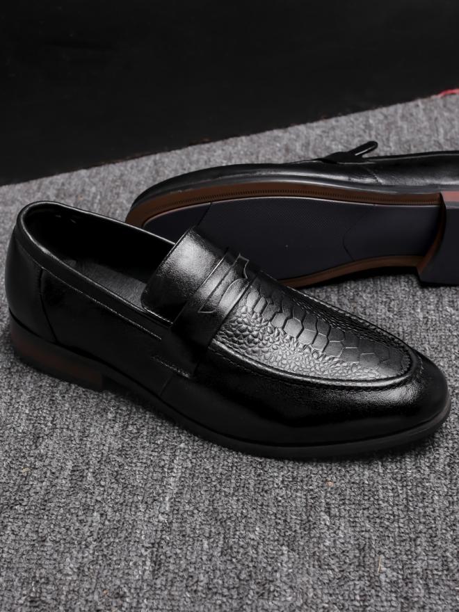 Giày mọi da đen g80 - 3