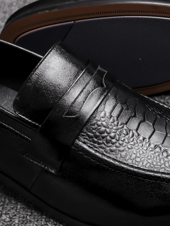 Giày mọi da đen g80 - 1