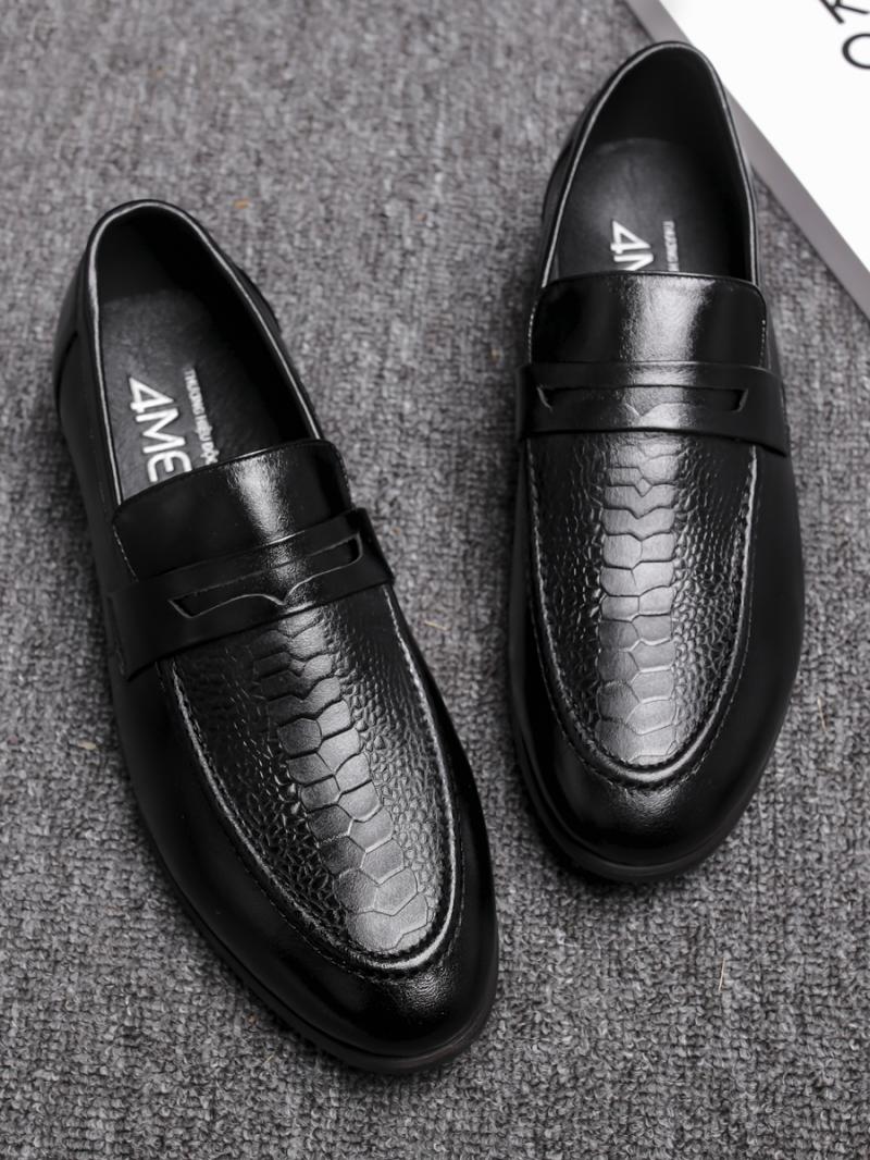 Giày Mọi Da Đen G80