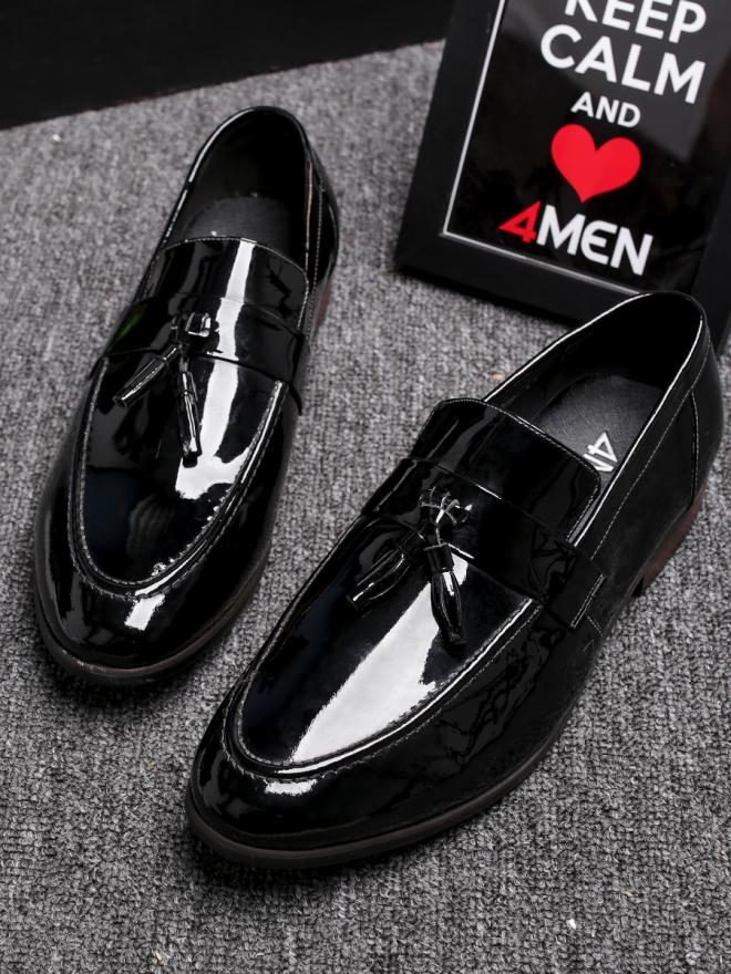 Giày mọi da đen g81 - 4
