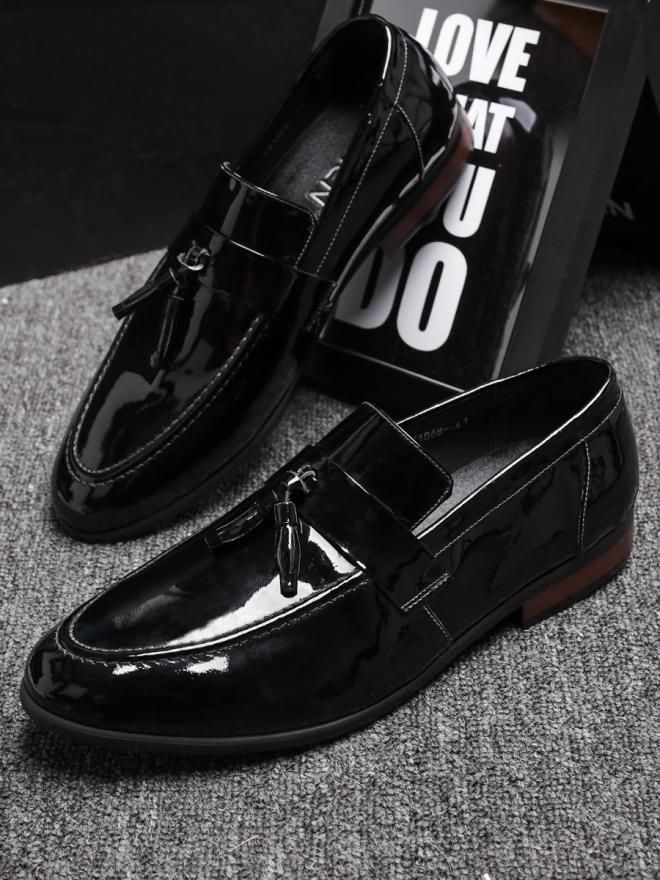Giày mọi da đen g81 - 3