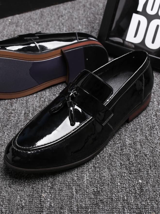 Giày mọi da đen g81 - 2