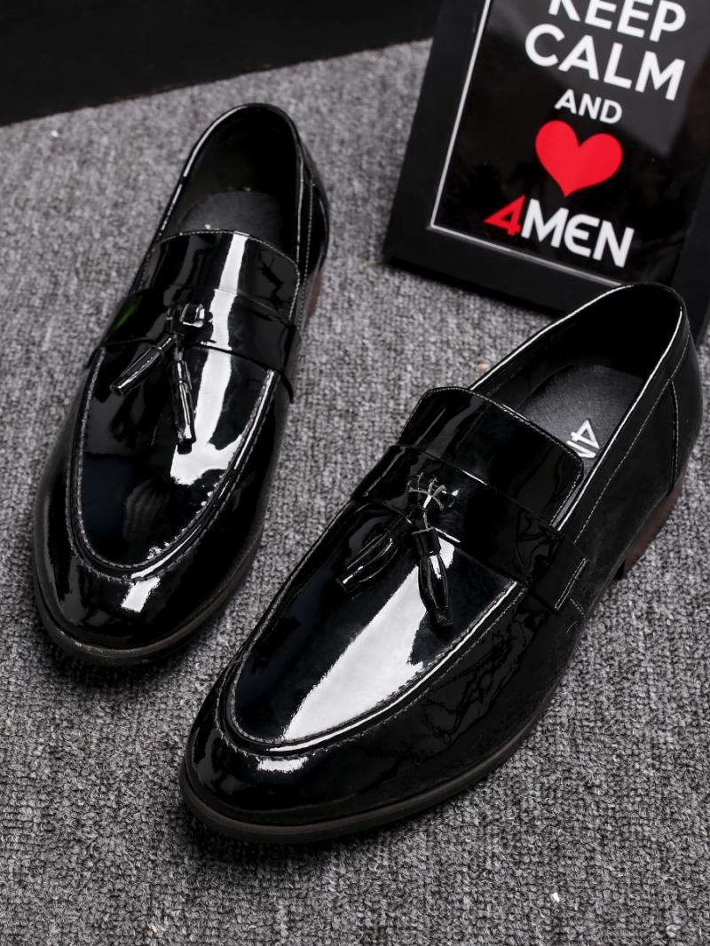 Giày Mọi Da Đen G81