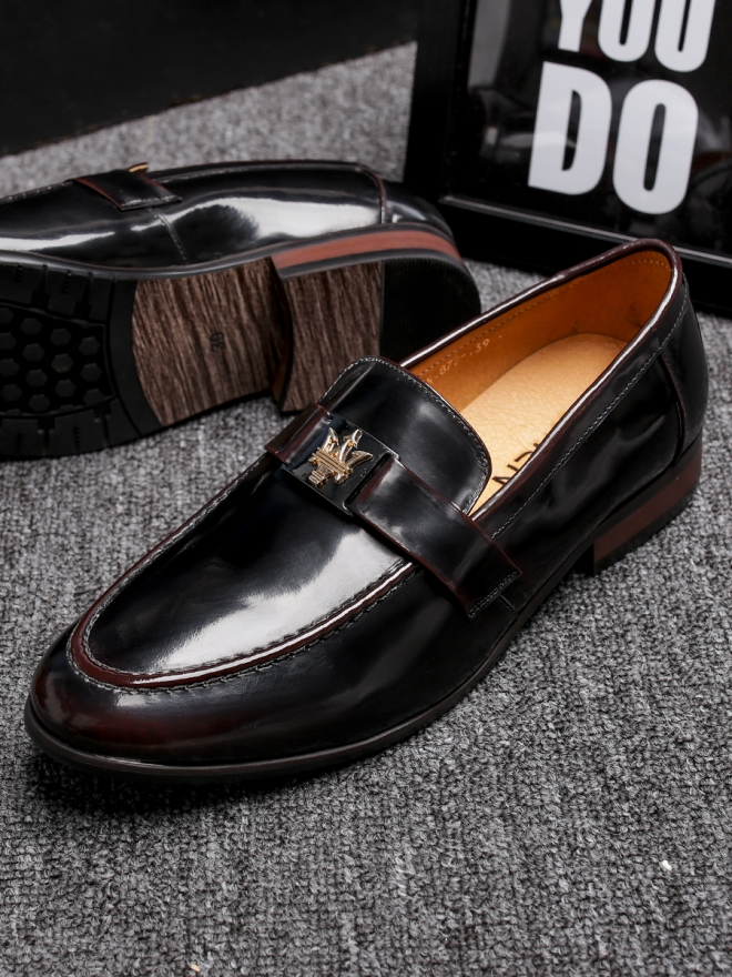 Giày mọi da đen g83 - 3