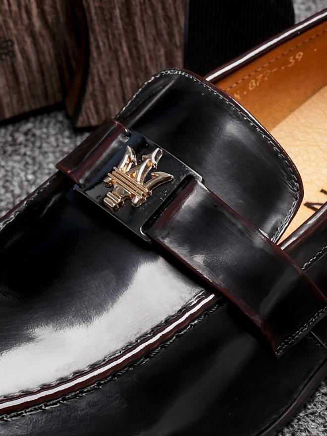 Giày mọi da đen g83 - 1