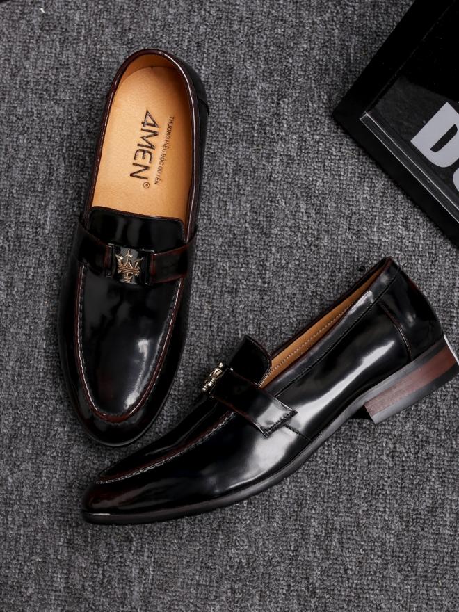 Giày mọi da đen g83 - 2