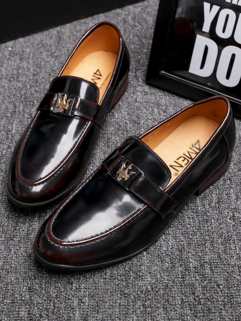 Giày Mọi Da Đen G83