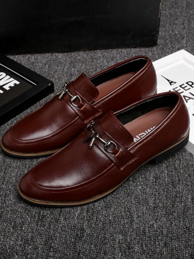 Giày mọi da đỏ nâu g74 - 1