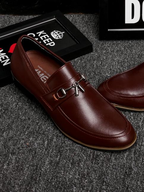 Giày Mọi Da Đỏ Nâu G74