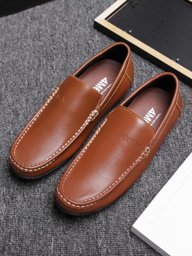 Giày mọi da màu bò g76 - 3